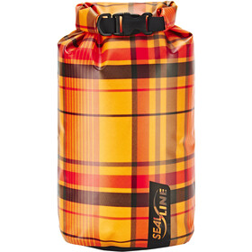 SealLine Discovery Dry Bag 10l, orange plaid